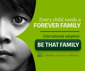 """Web Banner Mobile, """"Be That Family,"""" Gladney Campaign"""