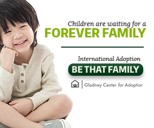 "Web Banner Mobile. ""Be That Family,""  Gladney Campaign"