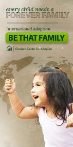 "Web Banner, ""Be That Family,"" Gladney Campaign"
